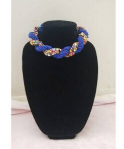 Blue Multi-Color African Necklace  African Goods African Jewelry African Women Jewelry Fashion, Health & Beauty Jewelry Final Sale Hot Goods