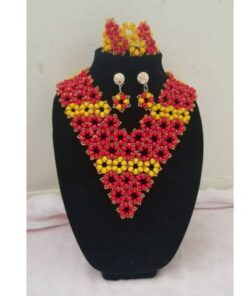 Elegant Trio Red  African Goods African Jewelry African Women Jewelry Fashion, Health & Beauty Jewelry Final Sale Hot Goods