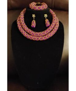 Transparent Purple Crystal Necklace  African Goods African Jewelry African Women Jewelry Fashion, Health & Beauty Jewelry Final Sale Hot Goods