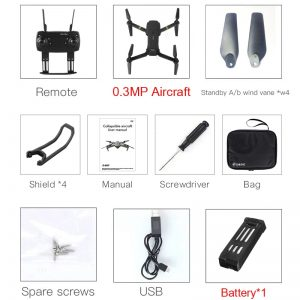 Foldable Design RC Quadcopter with Camera Bundle: 0.3MP 1 x Battery with bag Free Shipping Electronics Consumer Electrics