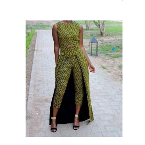 African Ladies 2 in 1 Dress and Pants (Copy)  African Goods African Clothing African Women Clothing Clothing, Shoes & Accessories