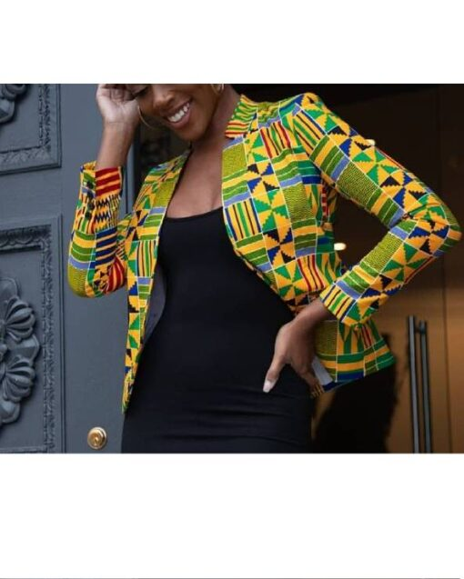African Ladies Kente Jacket  African Goods African Clothing African Women Clothing Clothing, Shoes & Accessories