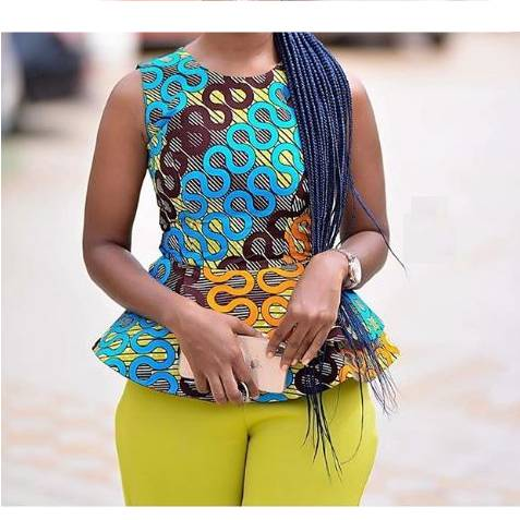 African Ladies Print Round Neck Short Sleeve  African Goods African Clothing African Women Clothing Clothing, Shoes & Accessories