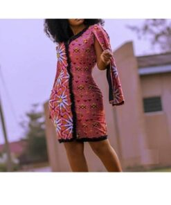 African Ladies Print V Neck  African Goods African Clothing African Women Clothing Clothing, Shoes & Accessories