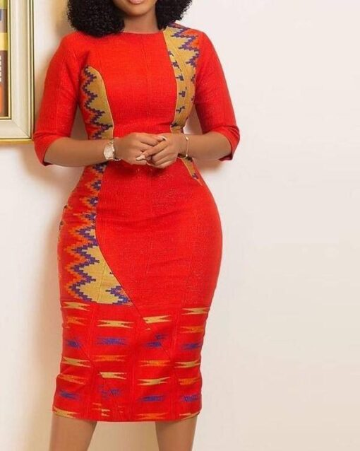 African Women Half Sleeve Bodycon  African Goods African Clothing African Women Clothing Clothing, Shoes & Accessories