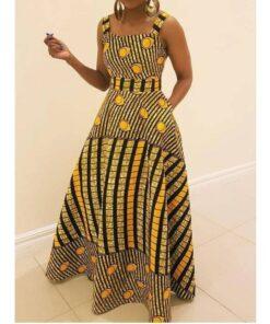 African Women Sleeveless Long Dress  African Goods African Clothing African Women Clothing Clothing, Shoes & Accessories