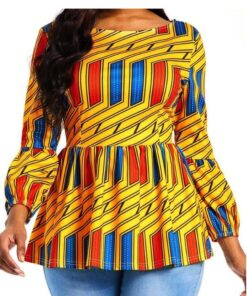 Bright African Print Blouse  African Goods African Clothing African Women Clothing Clothing, Shoes & Accessories