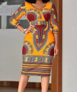 Extended African Women V Neck Print Top  African Goods African Clothing African Women Clothing Clothing, Shoes & Accessories