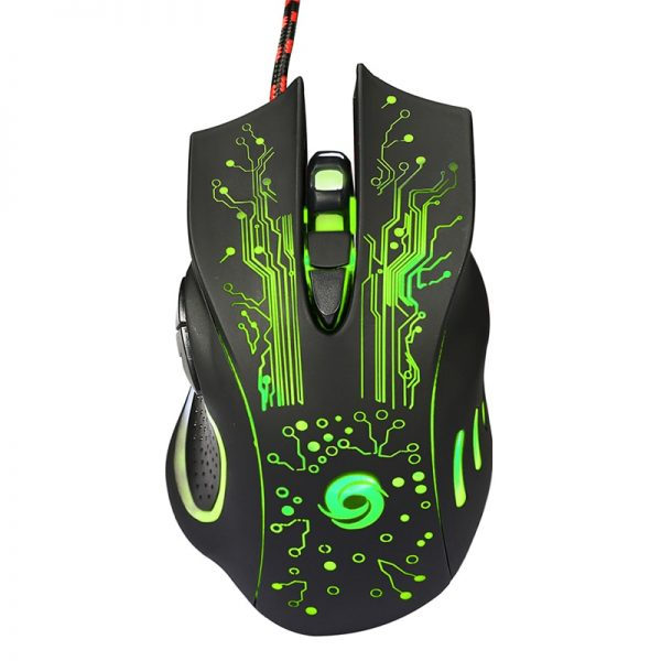 3D USB Wired Gaming Mouse with 6 Buttons Computer Accessories Free Shipping Gaming