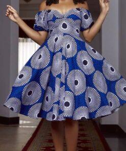 Mid Calf Print Dress  African Goods African Clothing African Women Clothing Clothing, Shoes & Accessories