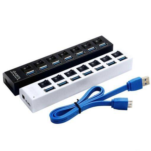 USB 3.0 Hub with Power Adapter  Computer Accessories Free Shipping