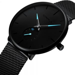 Men's Classic Style Black Steel Watch Fashion Free Shipping Men Watches Watches