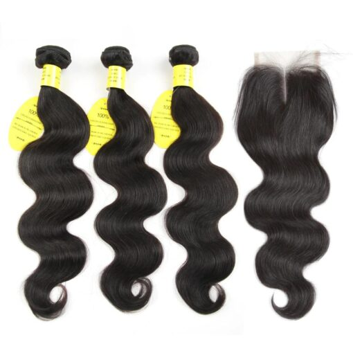 Brazilian Body Wave With Closure  Free Shipping Wigs and Weaves