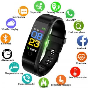 Blood Pressure Heart Rate Monitor Fitness Tracker Smartwatch Computer Accessories Free Shipping