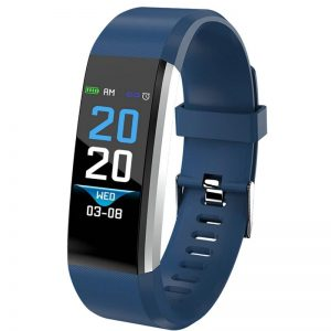 Blood Pressure Heart Rate Monitor Fitness Tracker Smartwatch color: Blue Computer Accessories Free Shipping