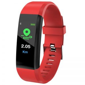 Blood Pressure Heart Rate Monitor Fitness Tracker Smartwatch color: Red Computer Accessories Free Shipping