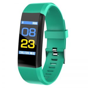Blood Pressure Heart Rate Monitor Fitness Tracker Smartwatch color: Light Blue Computer Accessories Free Shipping