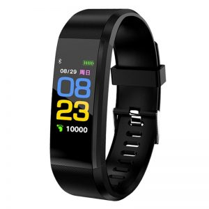 Blood Pressure Heart Rate Monitor Fitness Tracker Smartwatch color: Black Computer Accessories Free Shipping