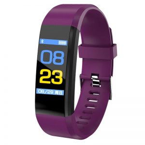 Blood Pressure Heart Rate Monitor Fitness Tracker Smartwatch color: Purple Computer Accessories Free Shipping