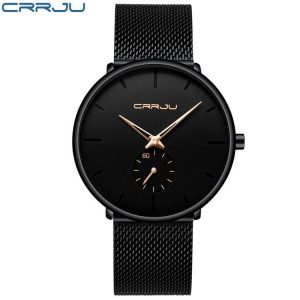 Men's Classic Style Black Steel Watch color: 2150-black rose Fashion Free Shipping Men Watches Watches