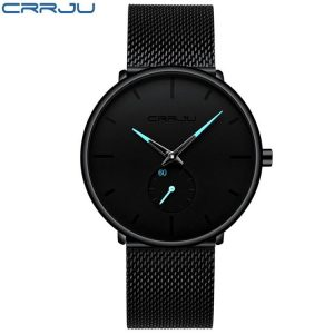 Men's Classic Style Black Steel Watch color: 2150-black blue Fashion Free Shipping Men Watches Watches
