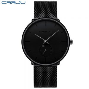 Men's Classic Style Black Steel Watch color: 2150-black black Fashion Free Shipping Men Watches Watches