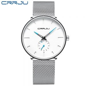 Men's Classic Style Black Steel Watch color: 2150-silver white Fashion Free Shipping Men Watches Watches