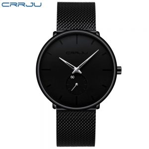 Men's Classic Style Black Steel Watch color: 2150-black silver Fashion Free Shipping Men Watches Watches