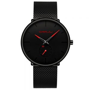 Men's Classic Style Black Steel Watch color: 2150-black red Fashion Free Shipping Men Watches Watches