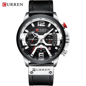 Casual Sport Watches for Men color: silver black watch Men Watches