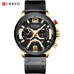 Casual Sport Watches for Men color: gold black watch Men Watches