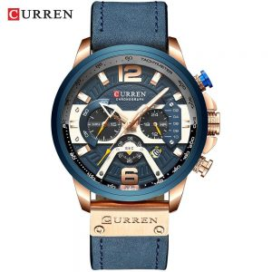 Casual Sport Watches for Men color: rose blue watch Men Watches