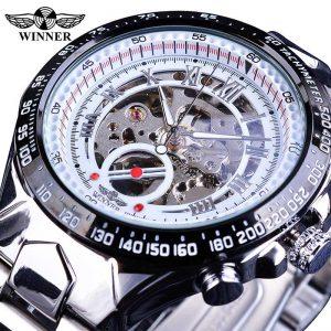 Men's Golden Skeleton Watch color: New White Men Watches