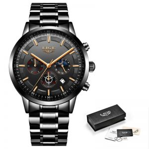Business Style Watch For Men color: All Black Rose Men Watches