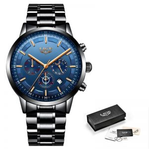 Business Style Watch For Men color: Black Rose Blue Men Watches
