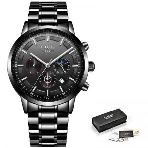 Business Style Watch For Men color: All Black Men Watches