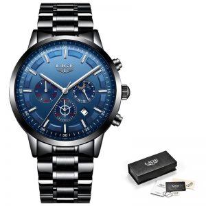 Business Style Watch For Men color: Black Blue Men Watches
