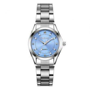 Women's Casual Waterproof Watch color: Light Blue Dial Fashion Free Shipping Women Watches