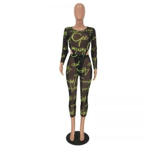 Long Sleeve See Through Bodysuit Prints Clothing, Shoes & Accessories