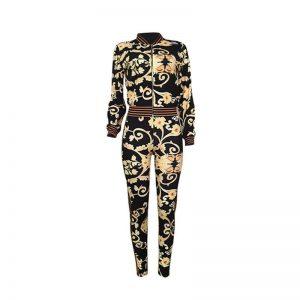 Women Winter Tracksuit color: Black Size: L Prints Clothing, Shoes & Accessories