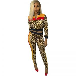 Leopard Two Set Tracksuit Prints Clothing, Shoes & Accessories