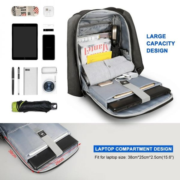 Anti theft Zipper Backpacks for 15.6 inch Laptop Bags and Covers Computer Accessories