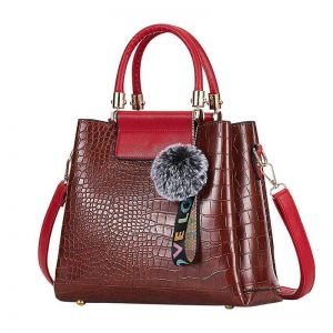4PS Luxury Women's Composite Shoulder And Leather Handbags color: Brown Red Size: (20cm<Max Length<30cm) Women's Bag Fashion, Health & Beauty