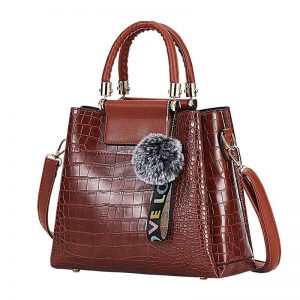4PS Luxury Women's Composite Shoulder And Leather Handbags color: BROWN Size: (20cm<Max Length<30cm) Women's Bag Fashion, Health & Beauty