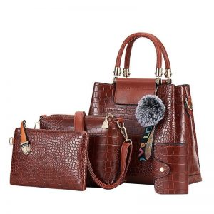 4PS Luxury Women's Composite Shoulder And Leather Handbags color: 4PS Brown Size: (20cm<Max Length<30cm) Women's Bag Fashion, Health & Beauty