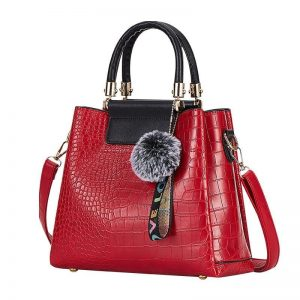 4PS Luxury Women's Composite Shoulder And Leather Handbags color: Red Size: (20cm<Max Length<30cm) Women's Bag Fashion, Health & Beauty