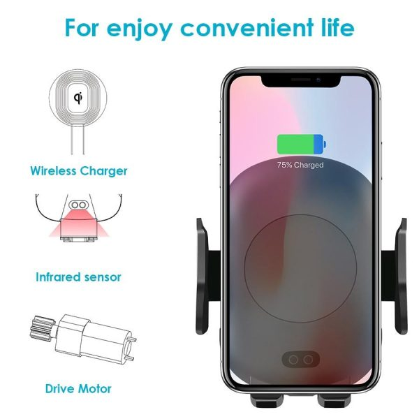 10W Fast Charging Qi Wireless Charger and Phone Holder Accessories