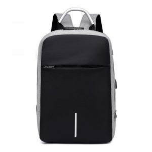 Men Multifunctional Anti Theft Backpack for 15.6″ Laptop color: Grey Bags and Covers Computer Accessories Electronics Computers & Accessories