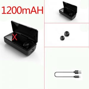 Bluetooth 5.0 Earbuds with Power Bank & Noise Cancellation color: single 1200mAh Electronics Phones & Tablets Phones Phone Accessories