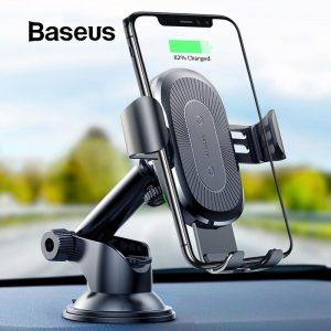 Baseus 2 in1 Qi Wireless Car Charger for iPhone XS Max Samsung S9  Accessories Phone Accessories